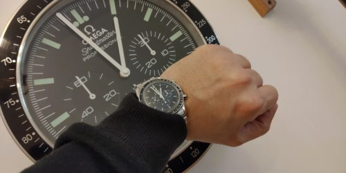 OMEGA WALL CLOCK - SPEEDMASTER MOONWATCH STYLE OM4  ||  ** FREE SHIPPING ** photo review