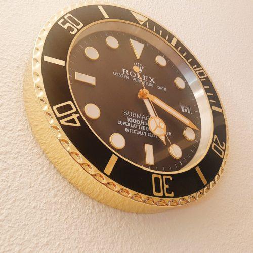 SUBMARINER GOLD WALL CLOCK RL49     **FREE SHIPPING** photo review