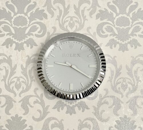 OYSTER SILVER WALL CLOCK RL66 **FREE SHIPPING** photo review