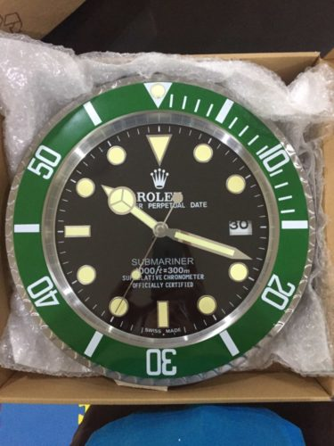 SUBMARINER WALL CLOCK GREEN RL04 || **FREE SHIPPING** photo review