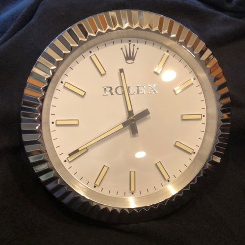 DATEJUST SILVER WALL CLOCK RL66 **FREE SHIPPING** photo review